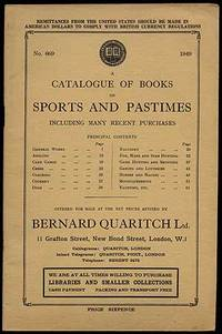 A Catalogue of Books on Sports and Pastimes Including Many Recent Purchases. No. 669