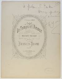 image of 'Le Temps et L'Amour' for voice and piano, (Francis, 1850-1909, French Composer)