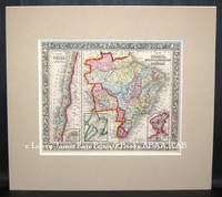 Map of Brazil, Bolivia, Paraguay and Uruguay and map of chili from the New Universal Atlas.
