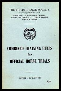 image of COMBINED TRAINING RULES FOR OFFICIAL HORSE TRIALS
