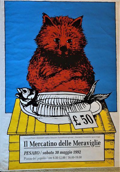 Pesaro, Italy: Comune di Pesaro , 1992. RARE advertising poster, 39 1.2