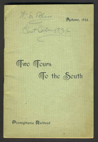 image of Pennsylvania Railroad Tours to the South.  Travel brochure