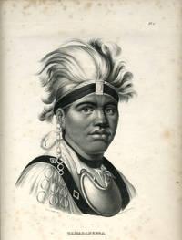 image of 'Taijadaneega'.  Lithographic portrait of Mohawk chief known as Joseph Brant