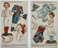 Two Paper Doll Advertising Trade Cards, Compliments of the Western and Southern Life Insurance Company, Cincinnati, Ohio