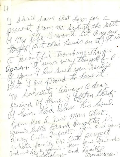 14 June 1970. Letter. Some creases and wrinkling from mailing. Very Good. Fine 4-page letter written...