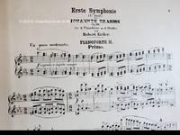Erste Symphonie  (C moll) Johannes Brahms Op. 68 für 2 Pianoforte  zu 8 Händen von Robert Keller. [P. N. 8032]
