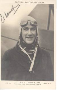 image of Postcard photo by Aerofilms signed in pencil (Flight Lieutenant C in XXIV Squadron, Stunt Flyer)