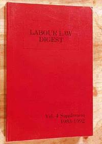 Labour Law Digest Volume 4  Supplement