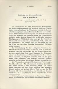 EINSTEIN'S CONTRIBUTIONS TO QUANTUM THEORY: Beiträge zur Quantentheorie (Verhandlungen der...