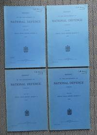 image of REPORT OF THE DEPARTMENT OF NATIONAL DEFENCE, CANADA, FOR THE FISCAL YEAR ENDING MARCH 31, 1941 / DITTO, MARCH 31, 1942 / DITTO, MARCH 31, 1943 / DITTO, MARCH 31, 1944.  4 VOLUMES IN TOTAL.