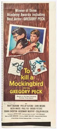 [Film insert poster]: To Kill A Mockingbird starring Gregory Peck
