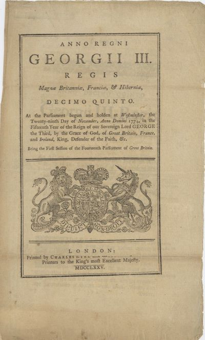 London: Printed by Charles Eyre and William Strahan, Printers to the King's most Excellent Majesty, ...
