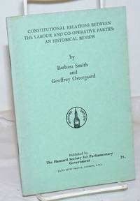 image of Constitutional Relations Between the Labour and Co-operative Parties: an historical review