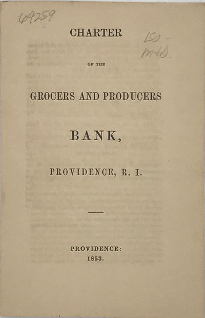 Providence, : NP, 1853. First edition. 12mo. 18 cm. 8 pp. Self wraps. Fine. Signed in type at conclu...