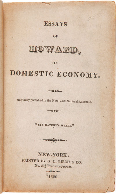 New York: Printed by G.L. Birch & Co., 1820. 214pp. 16mo. Modern paper-covered boards, leather label...