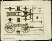 Art Militaire, Nouvelle Artillerie. Plan et Profil de L'Affut et Avant-Train de la Piece de Bataille de XII