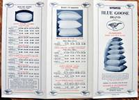 image of Blue Goose Brand Cushions-Down and Silk Floss. Advertising Brochure