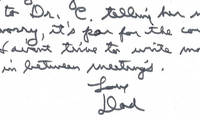 President Ronald Reagan Writes His Daughter On His Rare, Oval Office Letterhead He Used for Motivational Purposes Very uncommon ALS as President relating to a well known meeting with nuclear freeze movement leader Dr. Helen Caldicott.