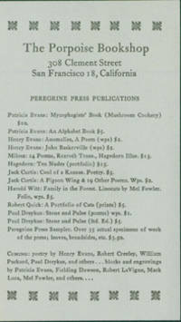 Peregrine Press Publications by Porpoise Bookshop & Gallery; Peregrine Press - from Alan Wofsy Fine Arts (SKU: 15-8334)
