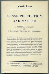 image of Sense-Perception and Matter. A Critical Analysis of C.D. Broad's Theory of Perception