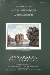 Sale 19-20-21 November 1997 : Books and Manuscripts.The Library of the  Late Mr. H. Herfst at Arnhem.Fine and Applied Arts, Film, History of  Culture, Religion, Foreign Literature, Exact Sciences, History of  Medicine, Miniature Books, Addenda, History,.... by VAN STOCKUM'S VEILINGEN B.V - from Frits Knuf Antiquarian Books (SKU: 76683)
