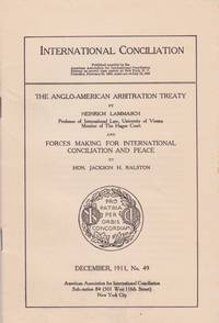 The Anglo-American Arbitration Treaty,and Forces for International Conciliation and Peace