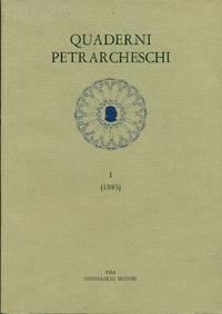 Quaderni Petrarcheschi I (1983)