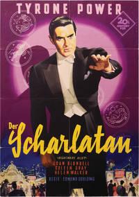 Nightmare Alley [Der Scharlatan] (Original poster from the 1954 German release of the 1947 film)