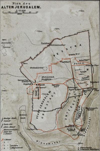 ABAA | Geographie des Alten Palästina mit Plan von Jerusalem ... Und Map Jerusalem on gang map, fat map, central european time zone map, super map, de map, nd map, car map, old map, un map, mis map, spain and portugal map, n dakota state map, bogota on map, union map, uno map, unr map, red map, umd map, fun map, war map,