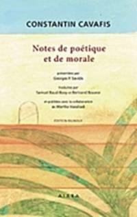 image of  Notes de poétique et de morale