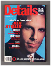 image of Details Magazine - August 1996. Cover: Ben Stiller; Metallica; Crystal Meth; Jennifer Tilly; Synthetic Shirts; Gay Male Curious About Women; Ultimate Dashboard; Girls Against Boys; Orbital; Defying Gravity; Lionel Richie; John Leguizamo; Tatiana Bolanos; Surfer Girl