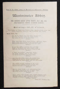 image of Westminster Abbey Hymns for Services on July 30, 1922