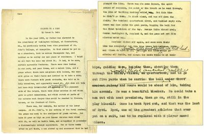 1933. 23 pages, carbon typescript, with approximately three dozen changes made in Cain's hand, and m...
