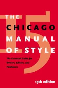image of The Chicago Manual of Style