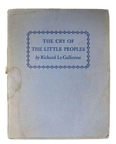 Camden, N.J.: The Haddon Craftsman, 1941. 1st edition thus. Facsimile signature of Eva Le Gallienne....