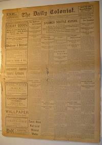 The (Victoria, British Columbia) Daily Colonist Newspaper: Thursday, November 24, 1904 Issue by  Multiple Contributors - Paperback - First Edition - 1904 - from RareNonFiction.com and Biblio.co.uk