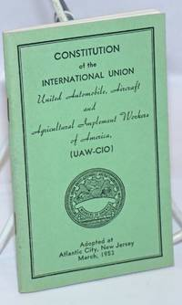 image of Constitution... Adopted at Atlantic City, New Jersey, March, 1953