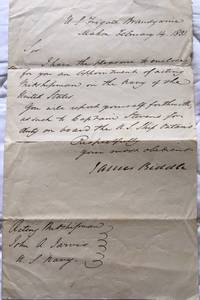 Autograph letter signed from U.S.S. Brandywine, Mahon