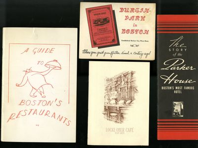 Softcover. Very Good Condition. Small group of Ephemera from Boston restaurants: Locke-Ober Café (A...