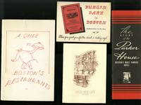 [Boston Restaurants, Locke Ober, Parker House, Durgin Park]