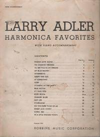 Larry Adler harmonica favorites, with piano accompaniment by Larry Adler - Paperback - First Edition - 1932 - from Judith Books (SKU: biblio1004)