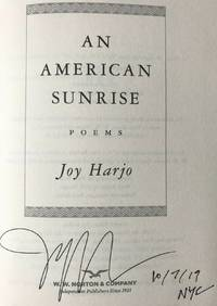 AN AMERICAN SUNRISE, Poems (SIGNED, DATED)