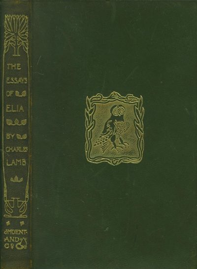 Vialibri  The Essays Of Elia The Temple Classics Charles Lamb The Essays Of Elia The Temple Classics J M Dent  Sons  Limited London  Leather Used Acceptable Leather English  Language No Jacket