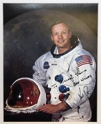 Autographed color photo signed in full by the American Astronaut and Aeronatical Engineer who became the first man to walk on the Moon