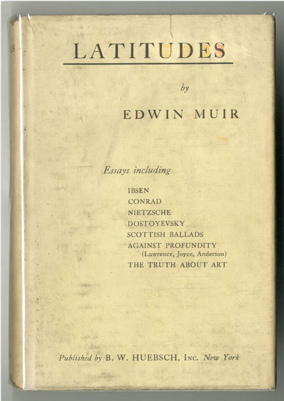 New York: Huebsch, 1924. Cloth, paper label. First American edition of the author's second book. Non...