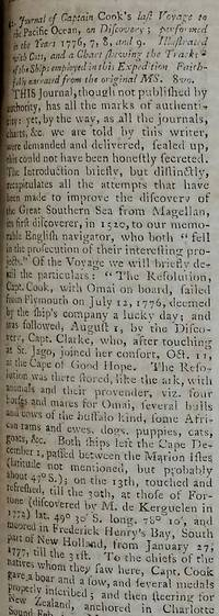 'Journal of Captain Cook's Last Voyage to the Pacific Ocean, on Discovery; performed in the Years 1776, 7, 8, and 9':  The Gentleman's Magazine and Historical Chronicle 1781. Volume LI. For the Year MDCCLXXXI