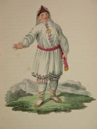 The Costume of the Russian Empire 1811. Original Hand Coloured Engraving by John Dadley (after Johann Gottlieb Georgi). Plate IX: A Tscheremisse Woman in Her Summer Dress [Tscheremiss/Mari/Cheremis]