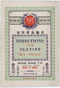 """Directions for Playing """"Ma Jong"""""""