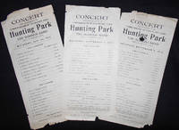 image of Concert under the Direction of the Commissioners of Fairmount Park -- Hunting Park -- The Burness Band -- Owen J. W. Burness, Conductor