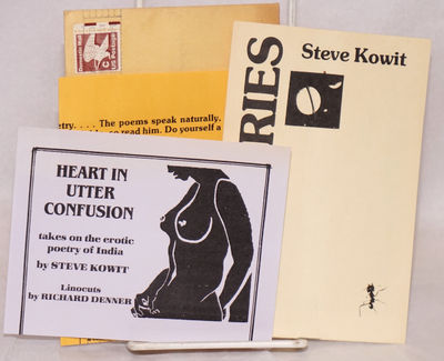 San Diego: Self-published by the poet at Farpotshket Press, 1982. 6.25x4.25 inches landscape layout,...